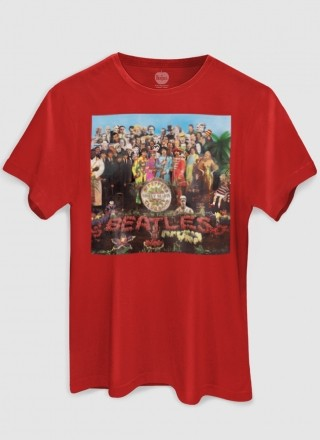 Camiseta Unissex The Beatles Capa Sgt. Pepper's 2