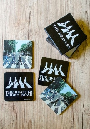 Conjunto com 4 Porta Copos The Beatles Abbey Road