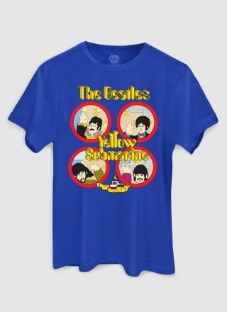 Camiseta Masculina The Beatles Yellow Submarine Original