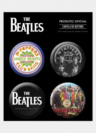 Cartela de Buttons The Beatles Sgt. Pepper's