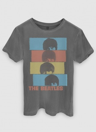 T-shirt Premium Masculina The Beatles Headshot