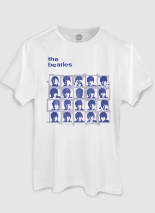 Camiseta Unissex The Beatles Hard Days Night Blue Basic