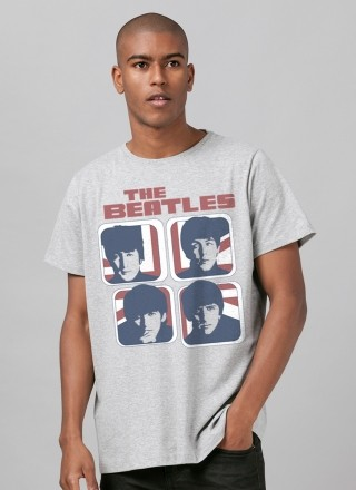 Camiseta Unissex The Beatles Hard Day´s Night England Basic
