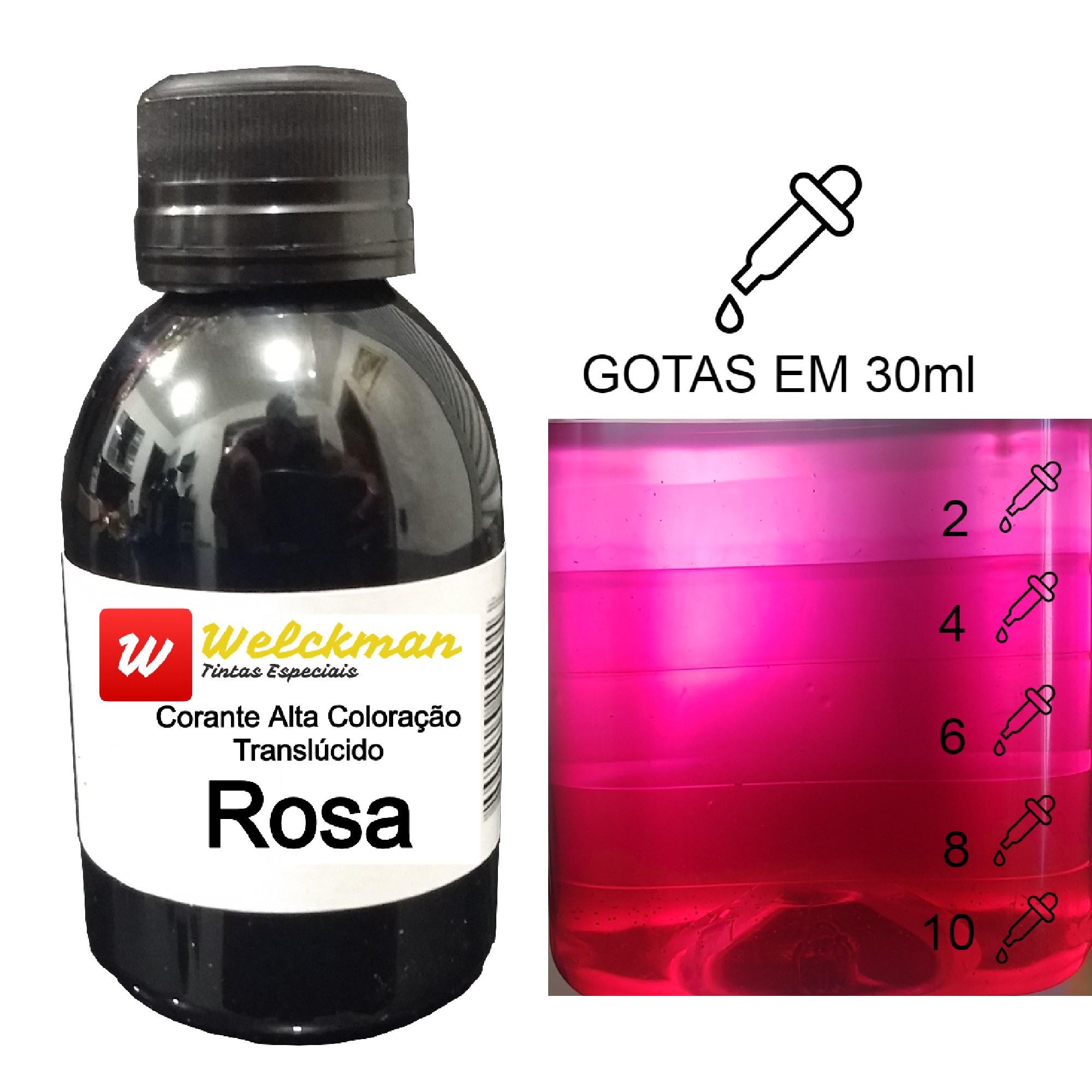 Corante Rosa Translúcido  - Welckman Tintas