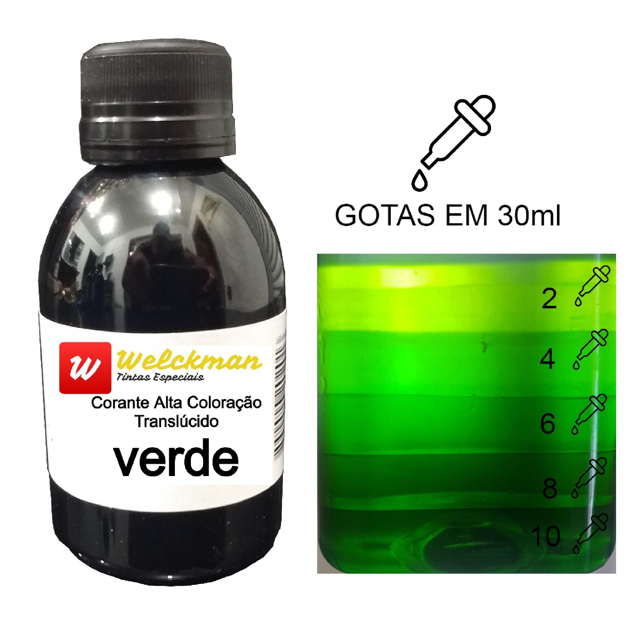 Corante Verde Translúcido  - Welckman Tintas