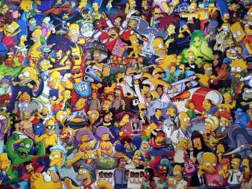 Quadro Decorativo Simpsons Personagens Para Quartos E Salas