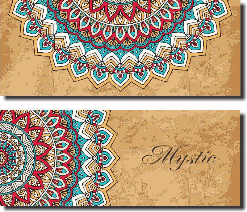 Quadros Decorativo Modelo Mandala Mistica fundo Marrom  2 Peças
