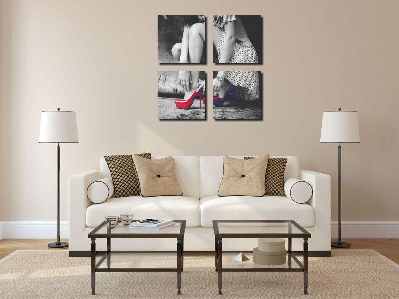Quadro decoração para salão de Beleza feminino  Kit 4 Peças