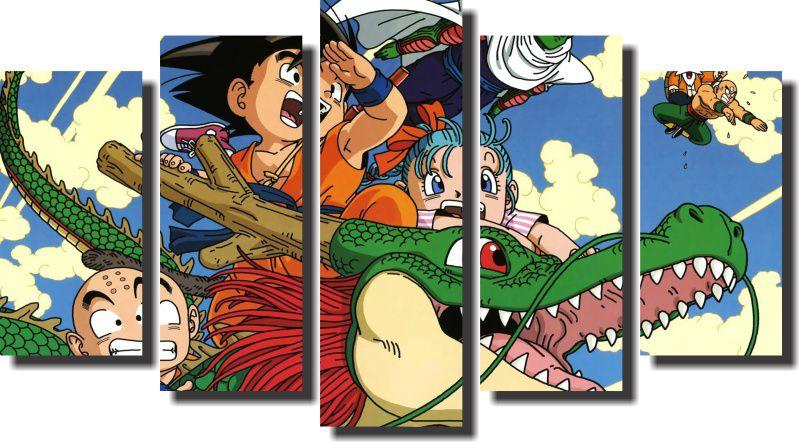Quadro Dragon Ball z goku super sayajin 5 Peças Para Sala m3