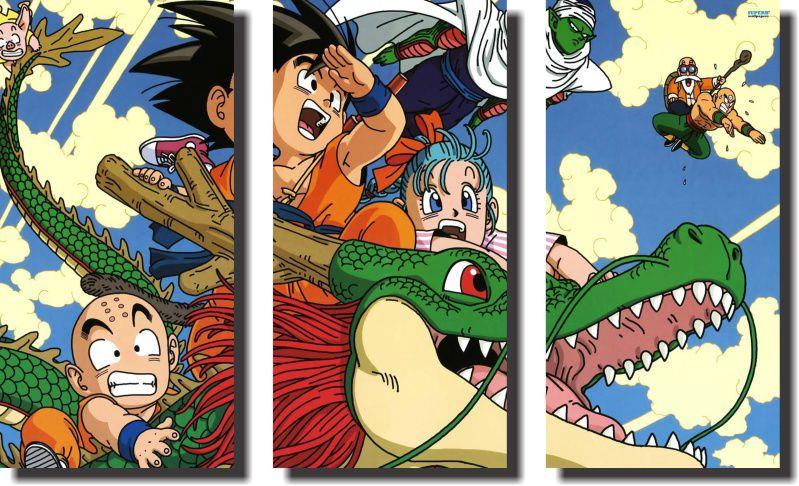 Quadro Dragon Ball z goku super sayajin 3 Peças Para Sala m3