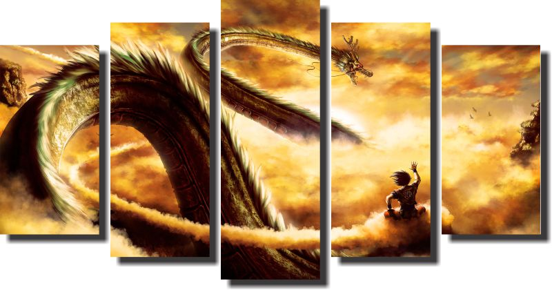 Quadro Dragon Ball Z Goku Super Sayajin Varias Peças Para Sala m6