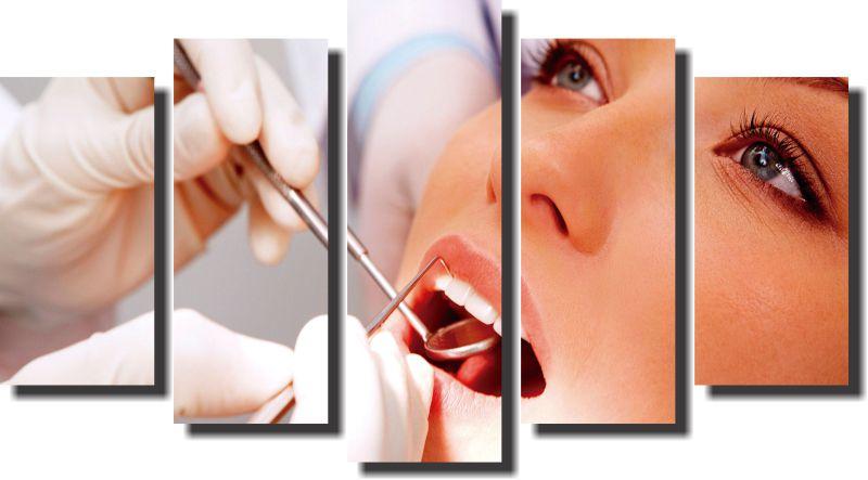 Quadro Decorativo Odontologia Dentista Varias Peças m5