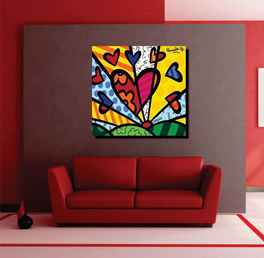 Quadro Romero Britto - A New Day  90 x 100 cm