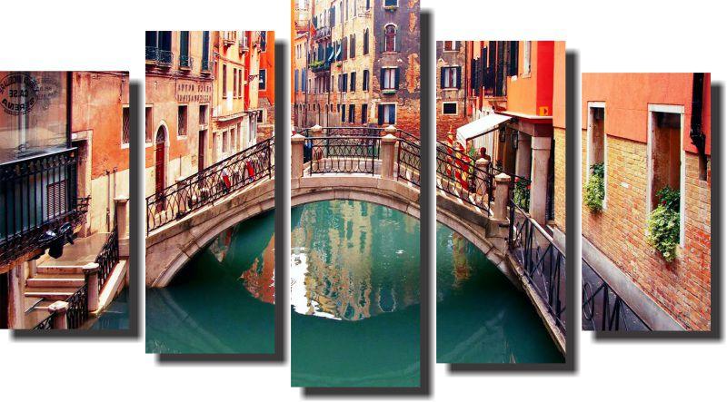 Quadro Decorativo Itália Ponte de veneza do amor Varias Peças