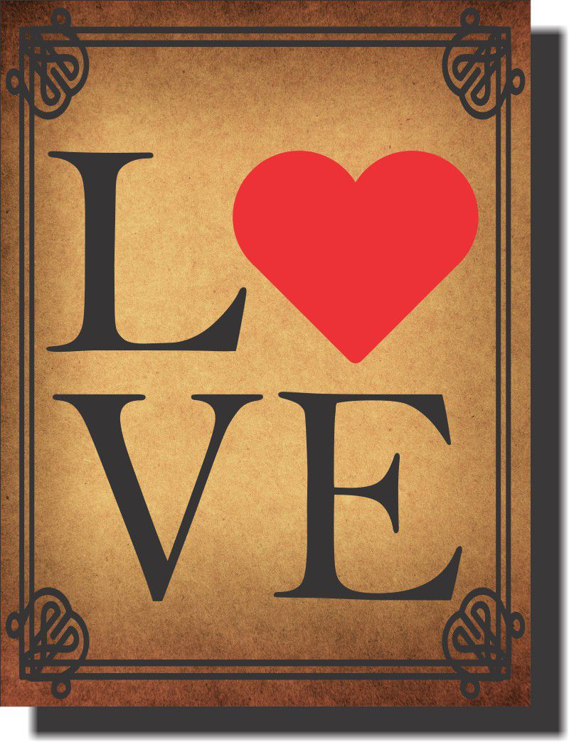 Quadro Decorativo Frase Love