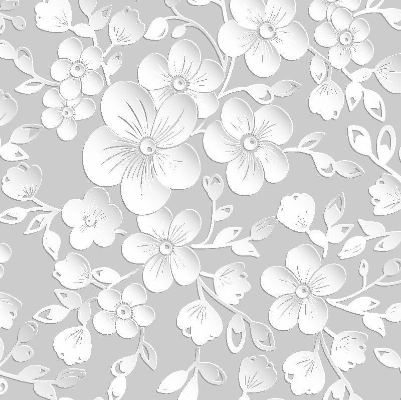 Papel parede floral 3d  rolo