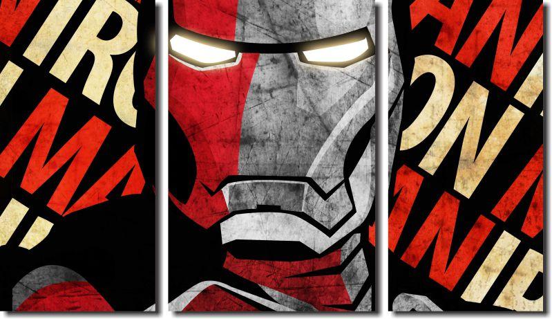 Quadro Decorativo IronMan Homem de Ferro Varias Peças