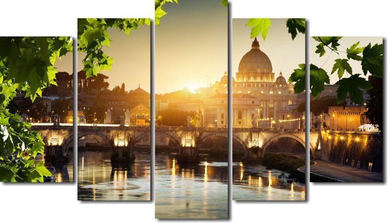 Quadro Decorativo Paisagem Basilica Vaticano Varias Peças Para Sala e Quarto