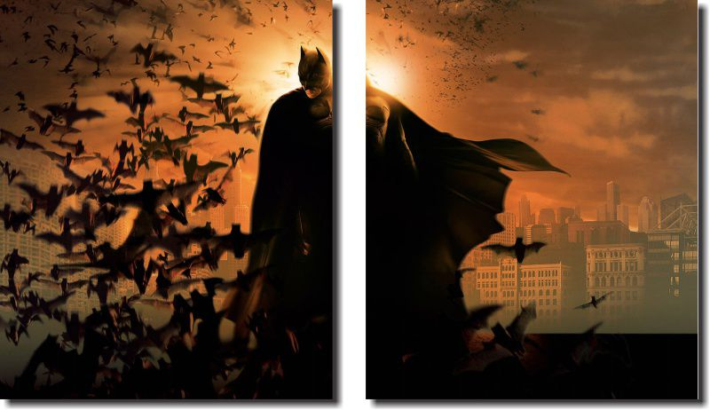 Quadro Decorativo Super Heroi Batman m6 Varias Peças Para Sa