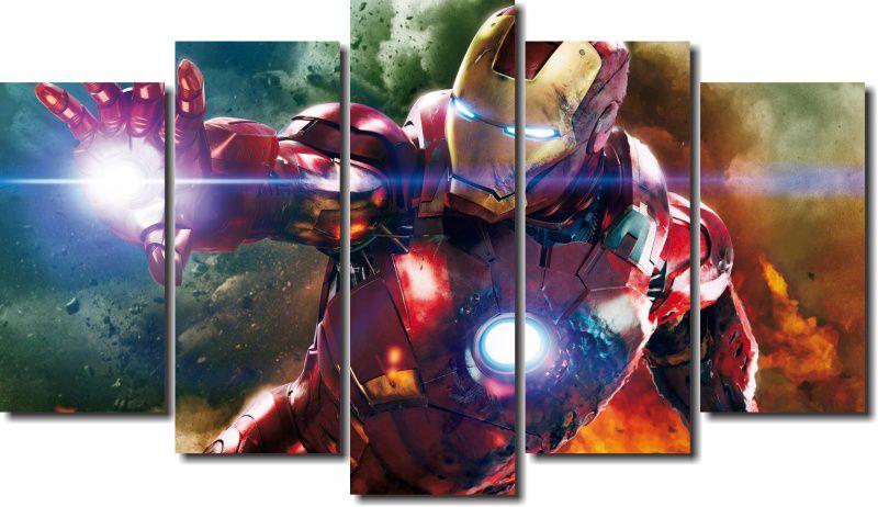 Quadro Decorativo Super Heroi Homem de Ferro m3 Varias Peças Para Sala