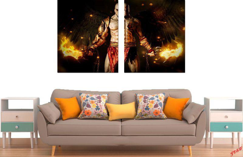 Quadro Decorativo Jogo Guerreiro  God Of War Varias Peças Para Sala e Quarto