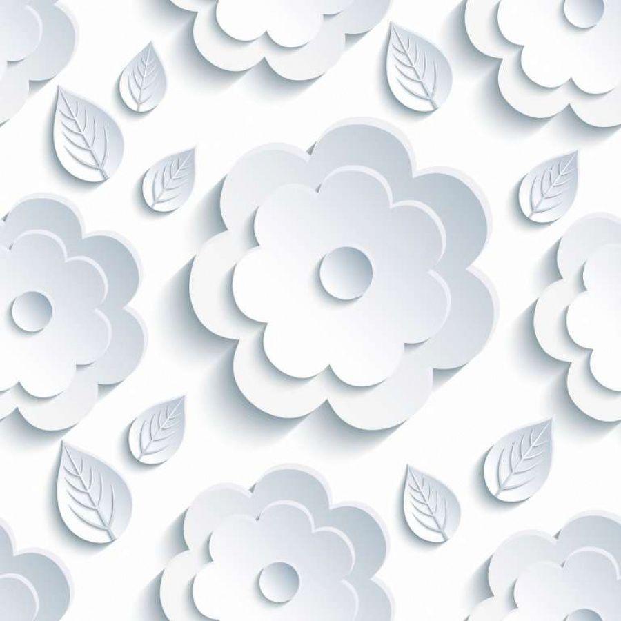 Papel Parede 3D Floral Relevo Autocolante