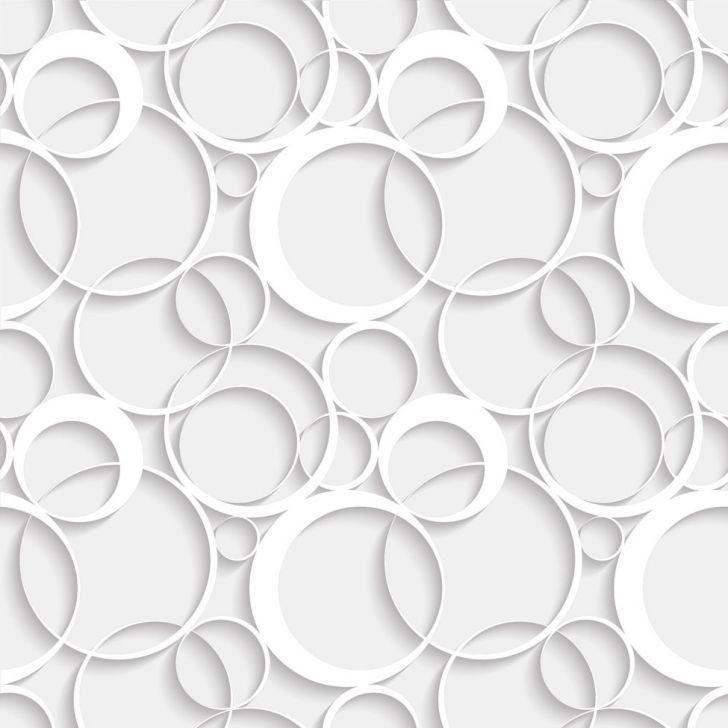 Papel Parede 3D Círculos Entrelaçados Autocolante