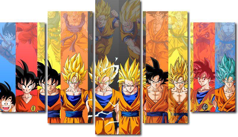 Quadro Decorativo Dragon Ball Z Goku Super Sayajin Vairas Peças M7