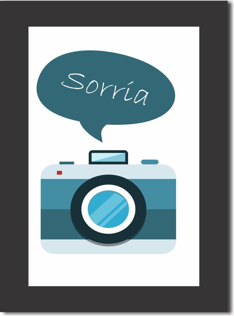 quadro máquina fotográfica decoração