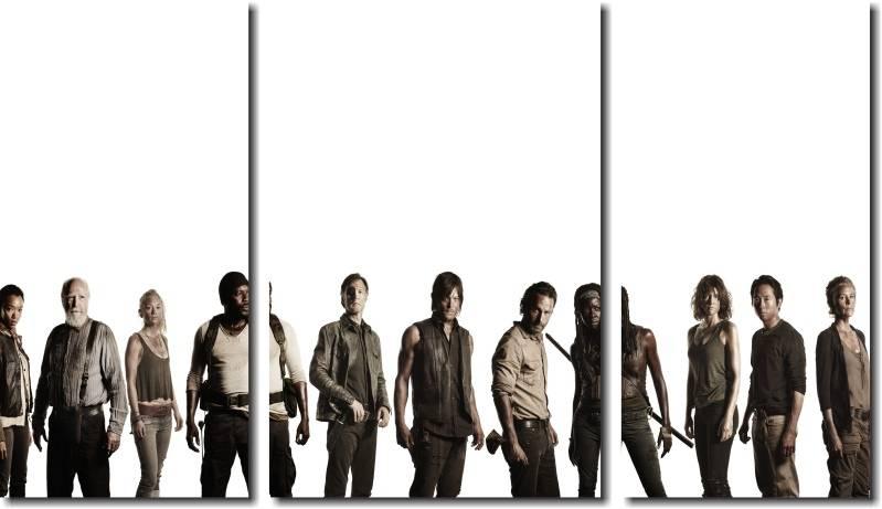 Quadro Decorativo Serie The Walking Dead  m2 Varias Peças Para Sala