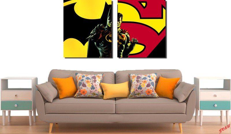 Quadros Decorativos BatMan VS Super Man Varias Peças M2