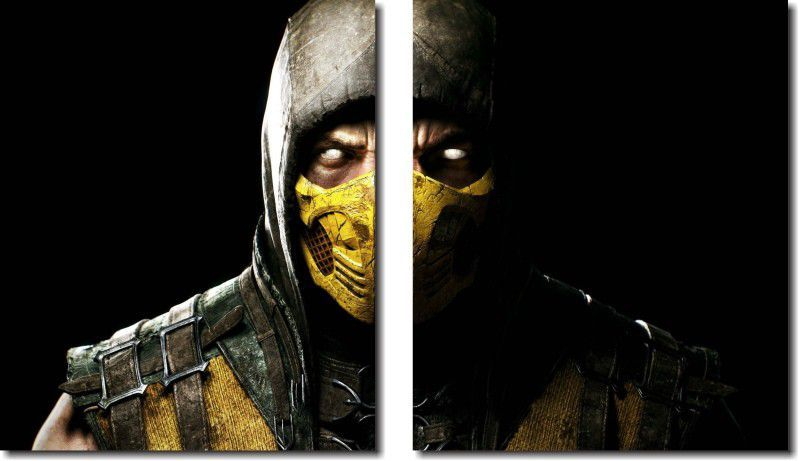 Quadro Decorativo Jogo Mortal Kombat  Scorpion Para Sala m1
