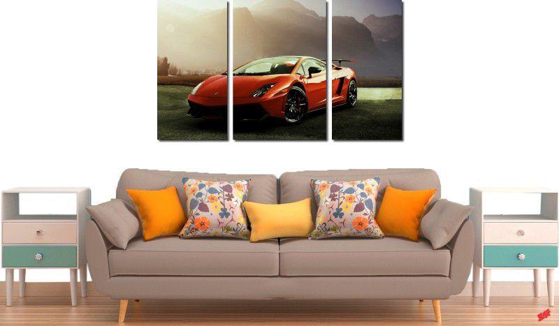 Quadro Decorativo Carro Vermelho lamborghini Varias Peças