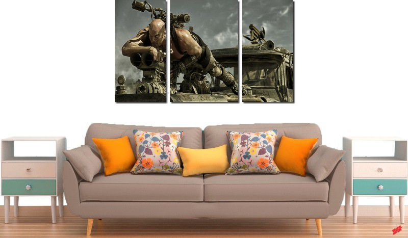 quadro decorativo filme Mad Max para quarto e sala 3 peças