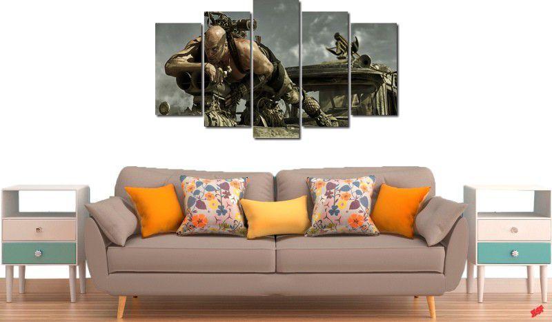 quadro decorativo filme Mad Max para quarto e sala 5 peças
