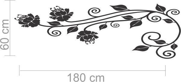 Adesivos Decorativos Galho com Flor