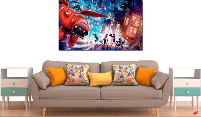 quadro decorativo filme operação big hero para quarto e sala 1 peça