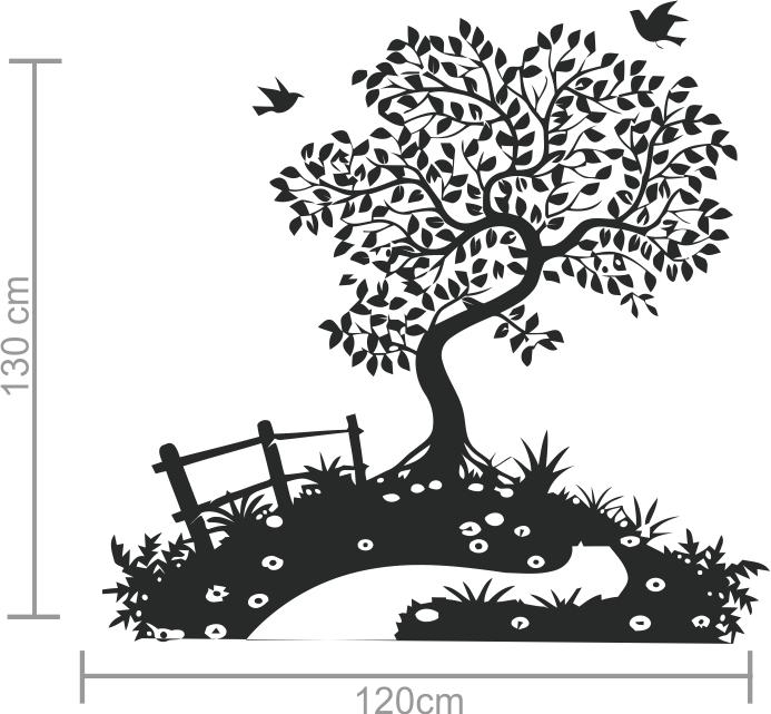 Adesivos Decorativos Árvore Contorcida