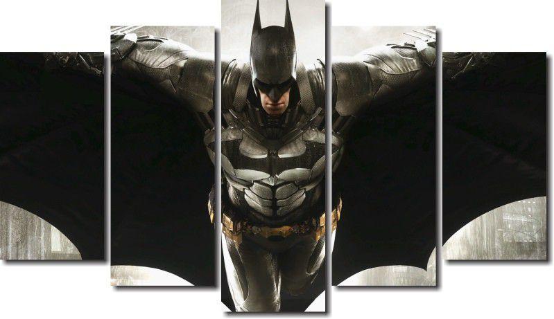 quadro decorativo filme batman vs arkham para quartos e salas 5 peças