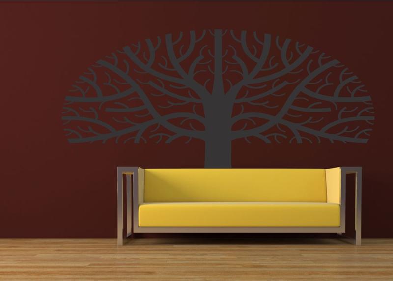 Adesivos Decorativos Árvore Meio Círculo