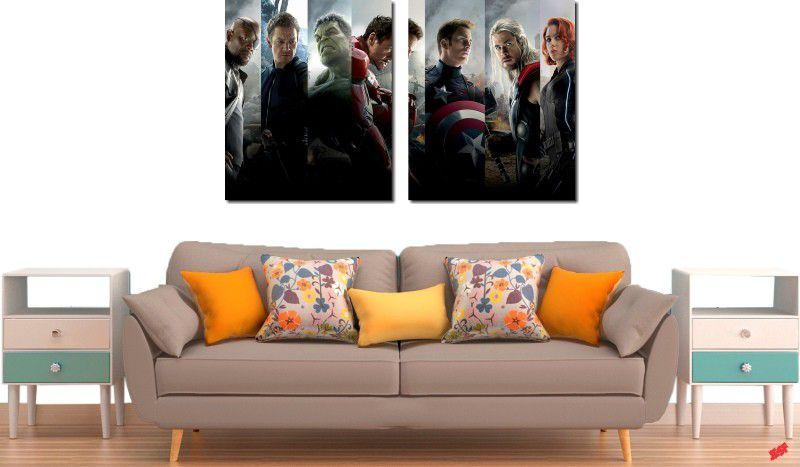 quadro decorativo para quartos e salas os vingadores 2 peças