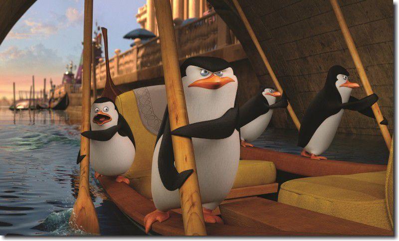 Quadro decorativo filme os pinguins de madagascar para quarto e sala 1 peça