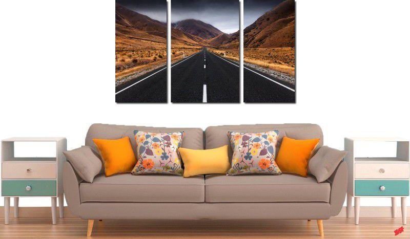 Quadro decorativo paisagem montanhas para quartos e salas 3 peças