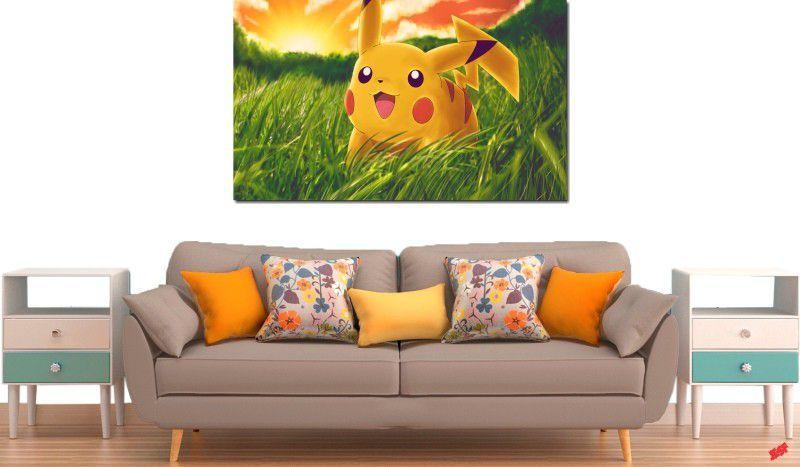 Quadro decorativo para quarto e sala pikachu 1 peça