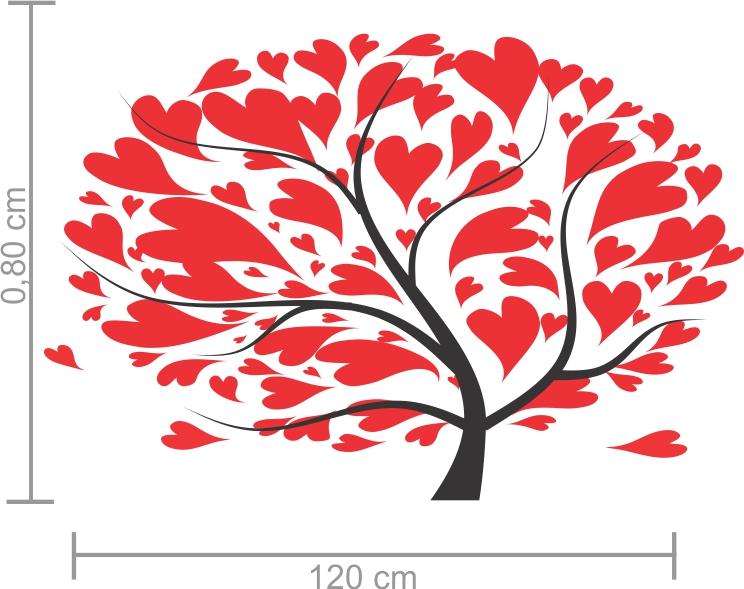 Adesivos Decorativos Árvore com Corações