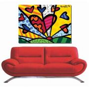 Quadro Romero Britto - A New Day 60x80