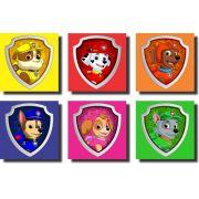 Kit 6 Quadros Infantil Patrulha Canina Logo Personagens Desenho
