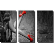 Quadro Feminino Para Decoração Salão de Beleza 3 Peças