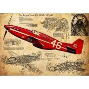 Quadro Decorativo Avião Vintage Para Quarto