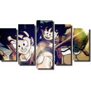 Quadro Dragon Ball z goku super sayajin 5 Peças Para Sala m2